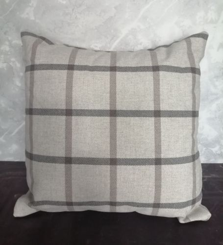Handmade Cushion - Check Print