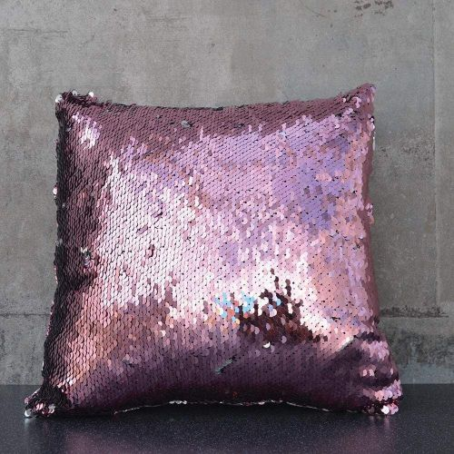 Sequin Cushion - Pink and Silver