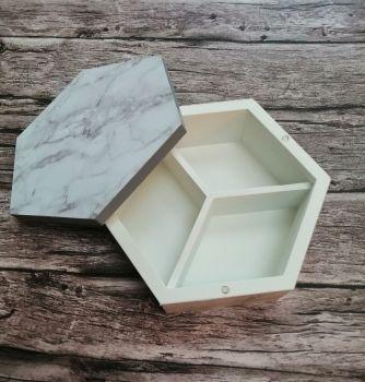 Marble Look Hexagon Box