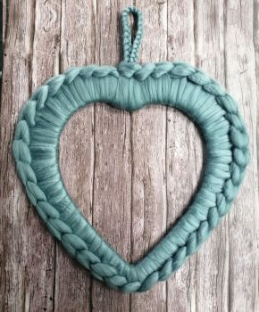 Large Heart Wreath - Teal