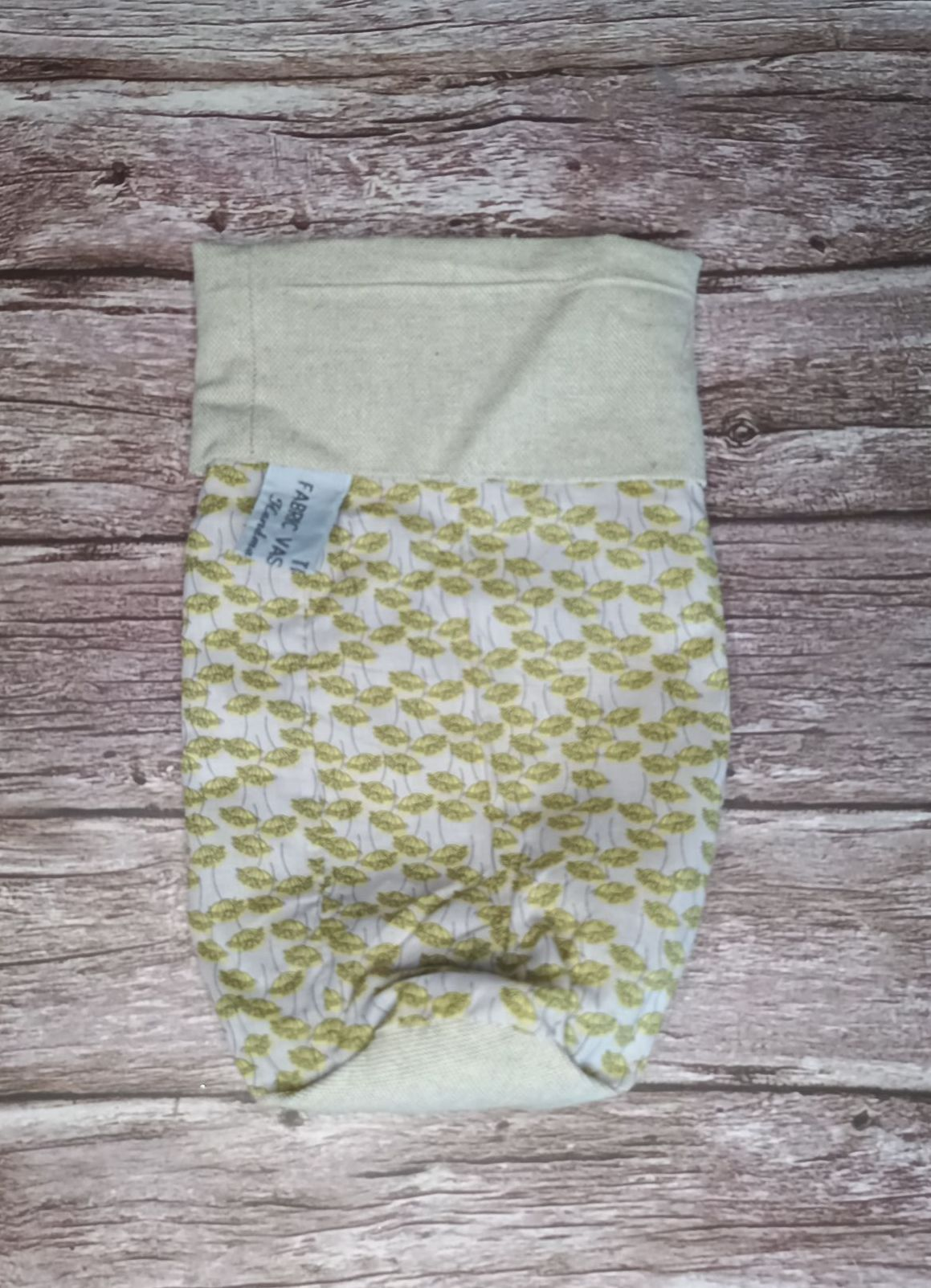Fabric Vase Cover - Yellow Flower