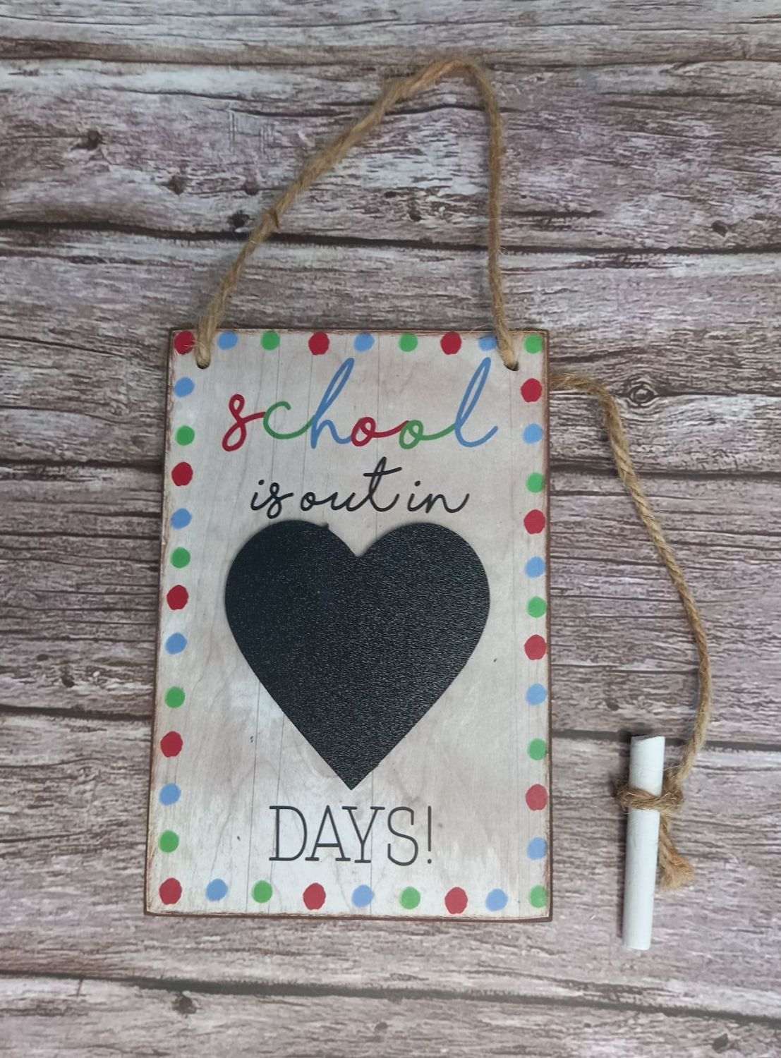 Countdown Plaque - School's Out