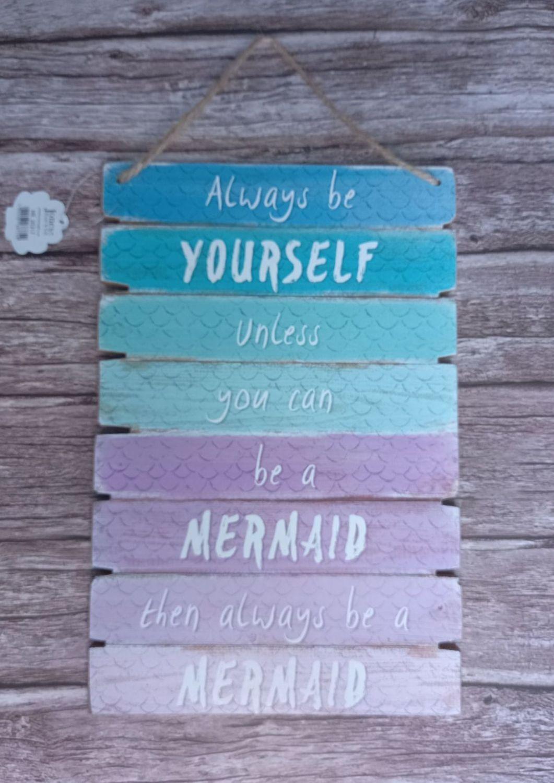 Mermaid Wood Plaque