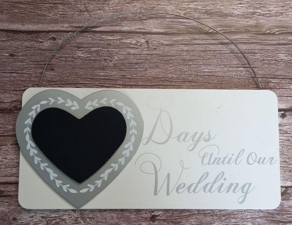 Countdown Plaque - Days Until Our Wedding