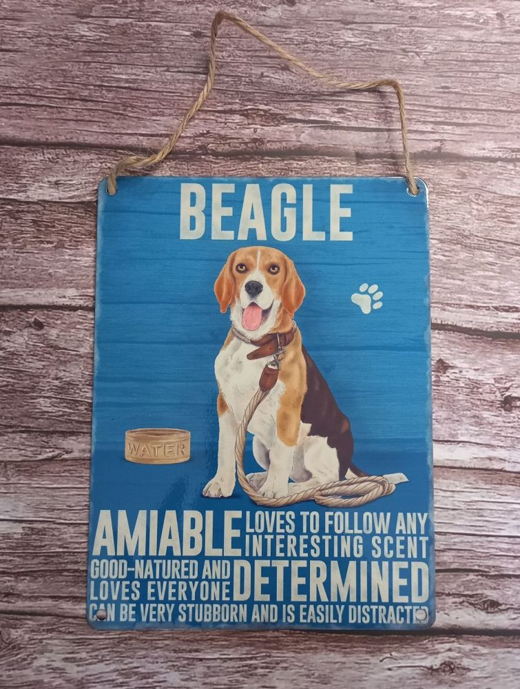 Beagle Metal Plaque