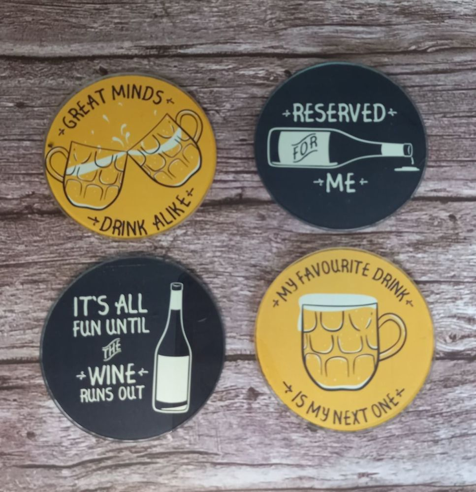 Coasters - Glass Gents Drinking