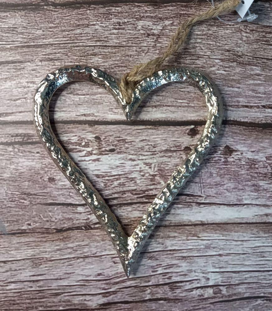 Silver Metal Heart