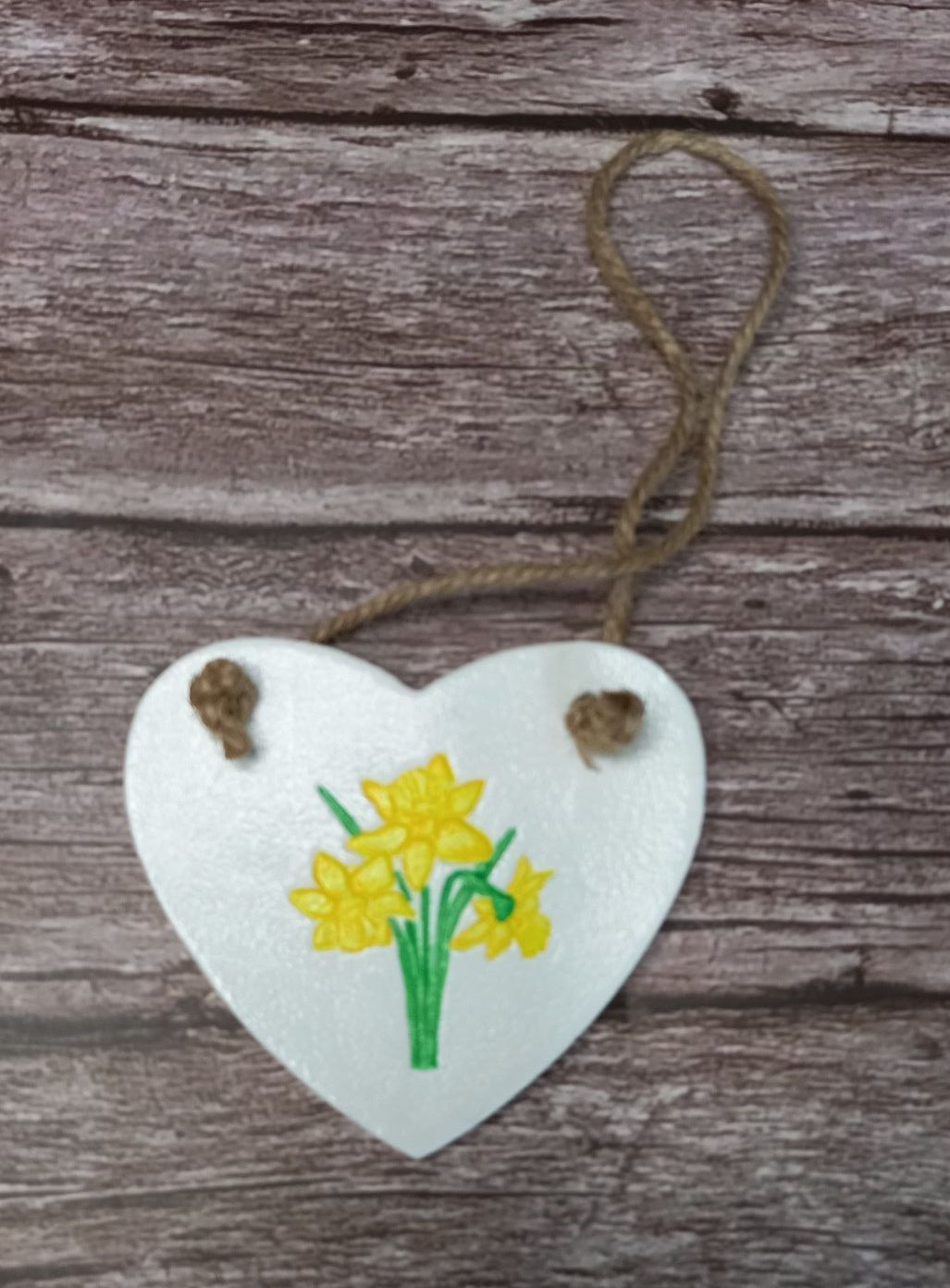 Clay Heart - Daffodils