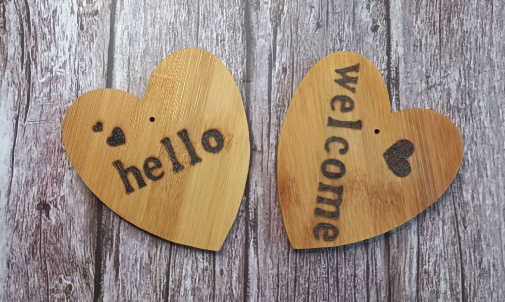 Hand Carved Wood Hearts