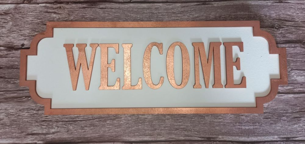 Street Sign - Welcome - Copper