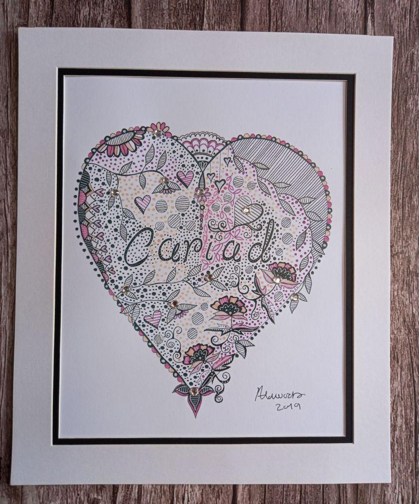 A4 Cariad Print