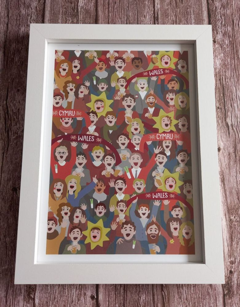 A4 Welsh Supporters Print