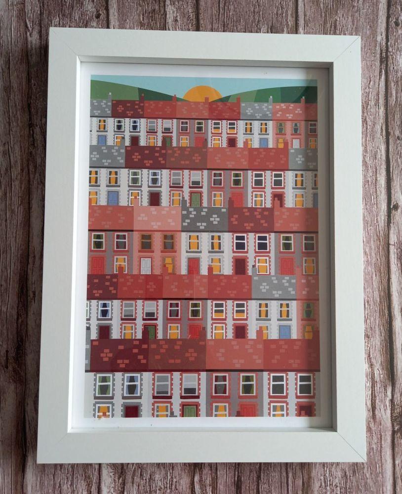 A4 Welsh Valleys Print