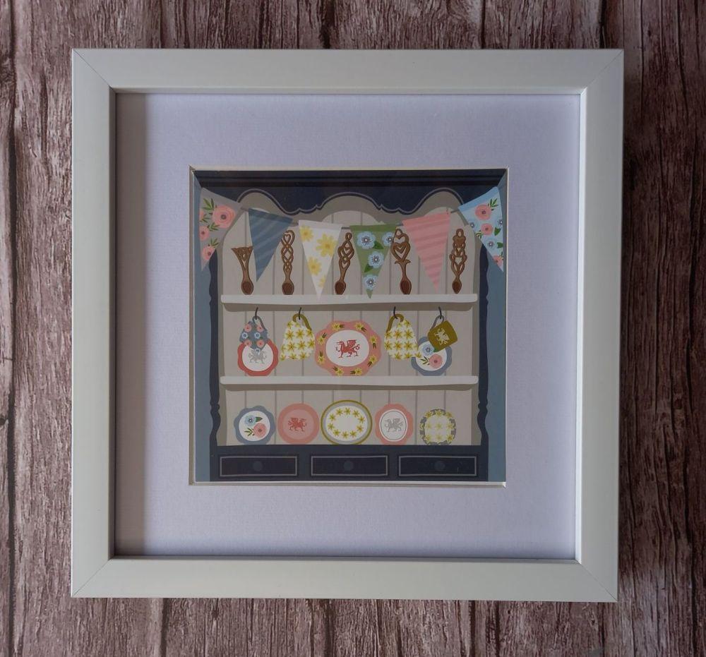 Framed Welsh Dresser Print
