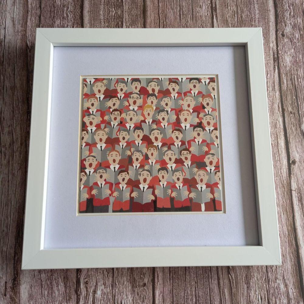 Framed Welsh Choir Print