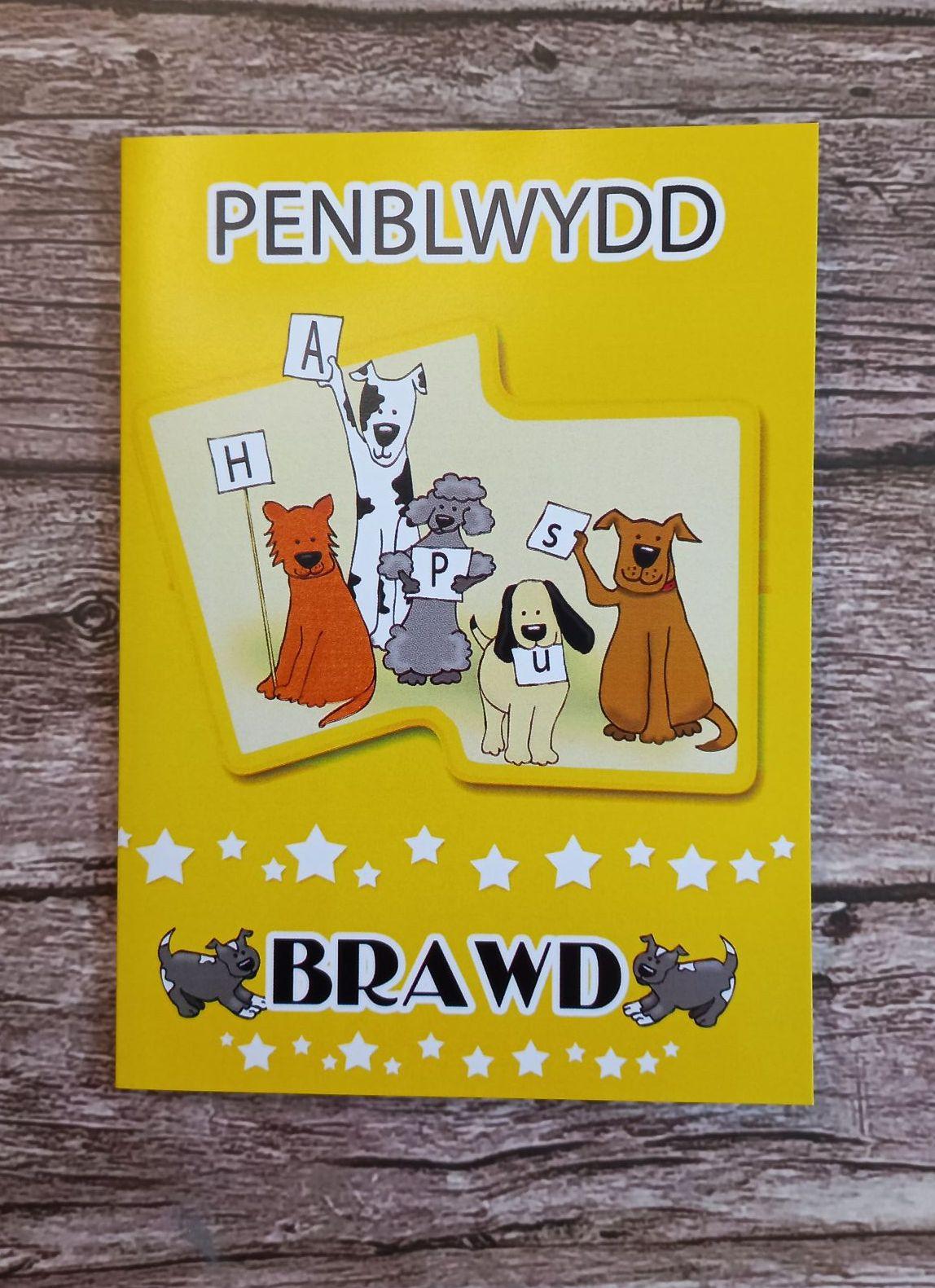 Cerdyn Penblwydd Brawd Welsh Language Card