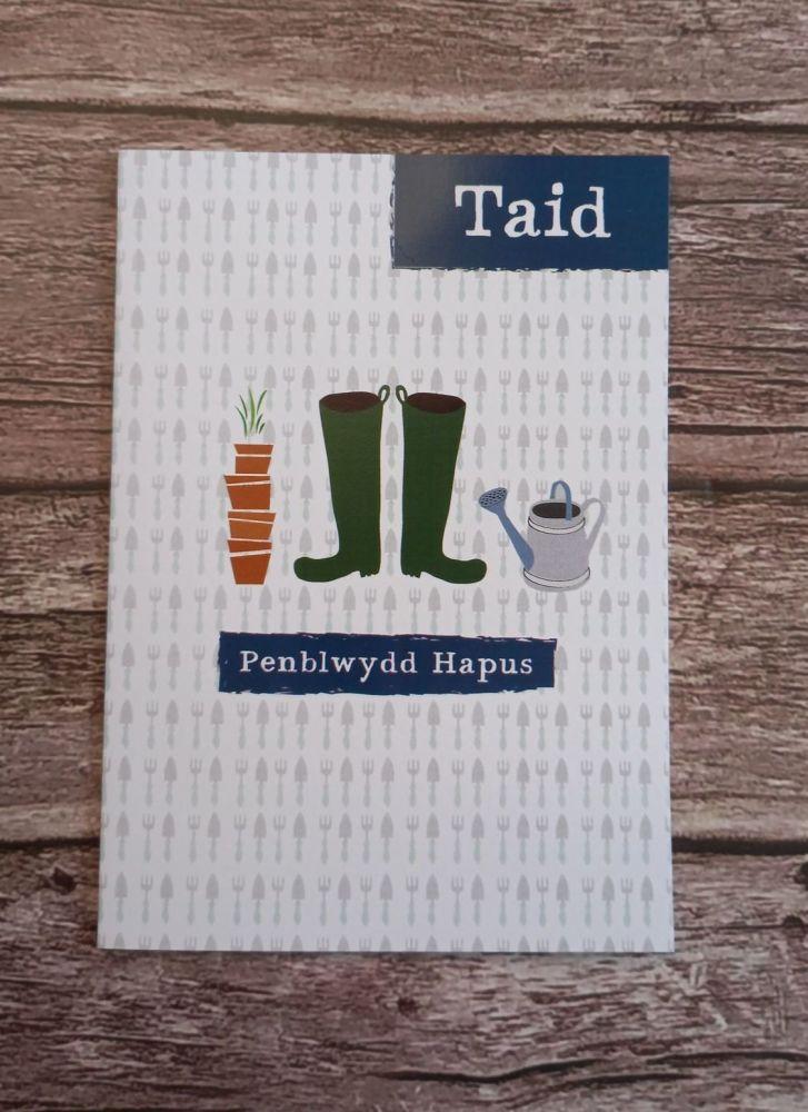 Cerdyn Penblwydd Taid