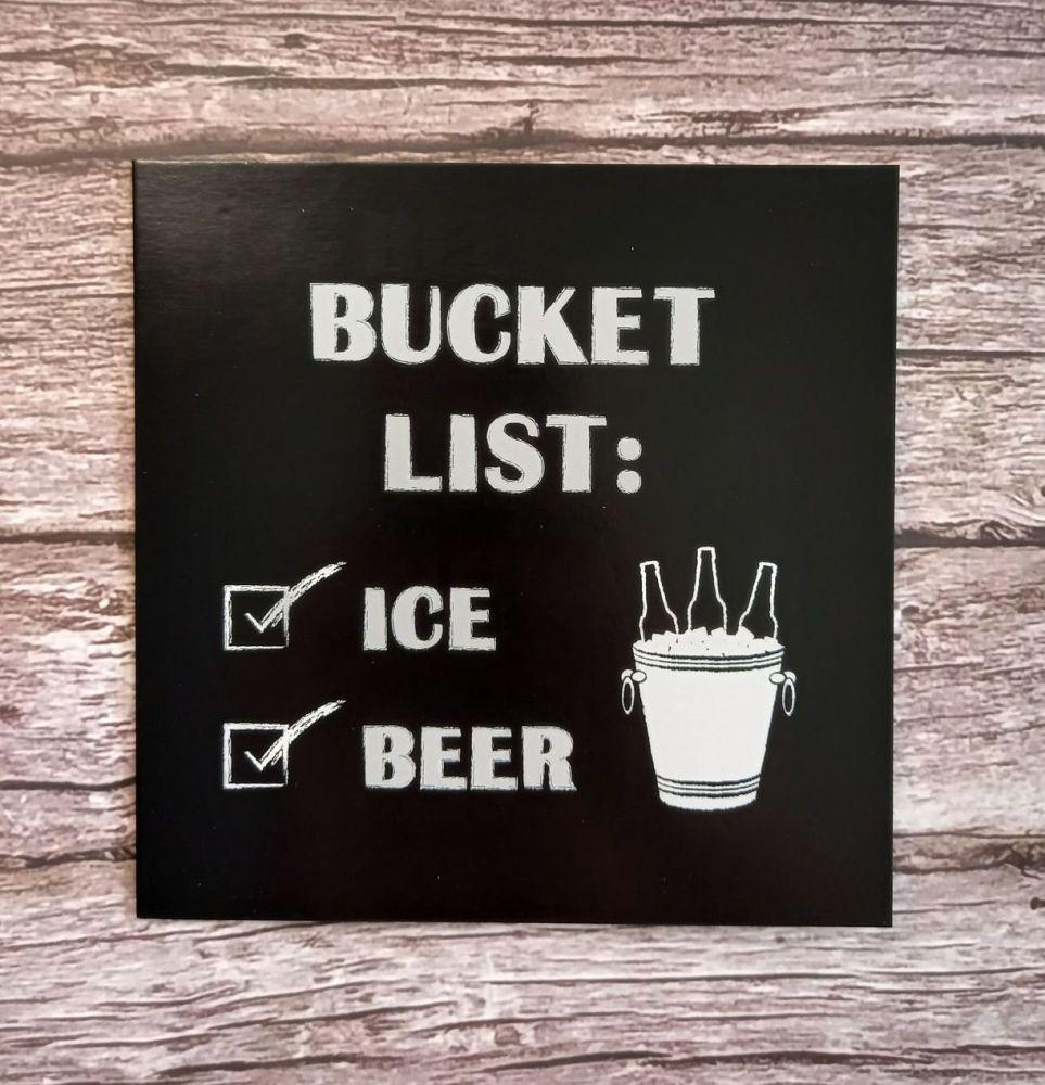 Greeting Card - Bucket List