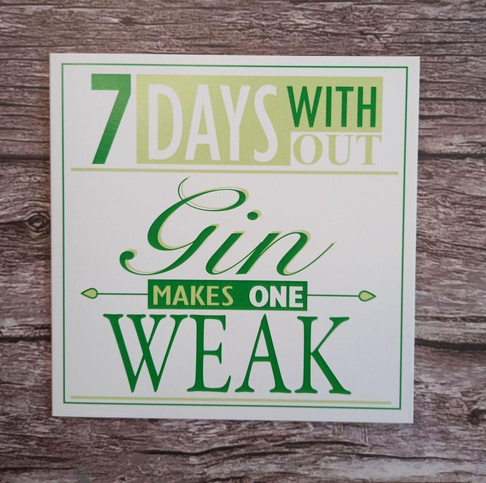Greeting Card - Gin