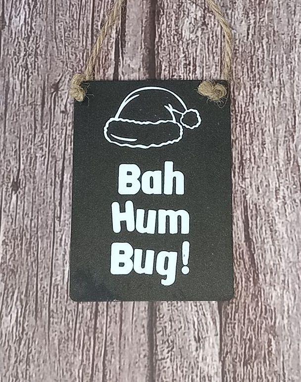 Bah Humbug Mini Metal Sign