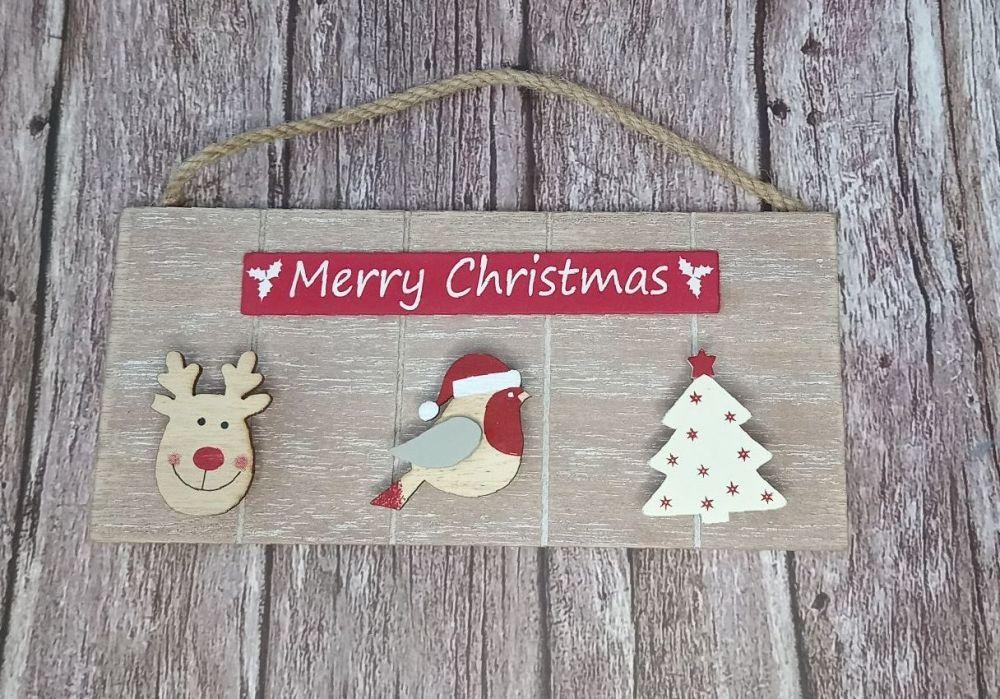Merry Christmas Triple Peg Santa Letter/Card/Elf Report Holder
