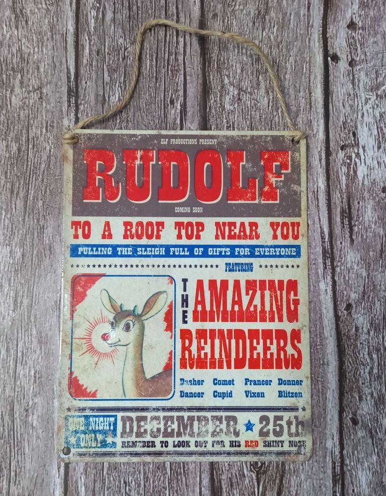 Metal Sign - Rudolf