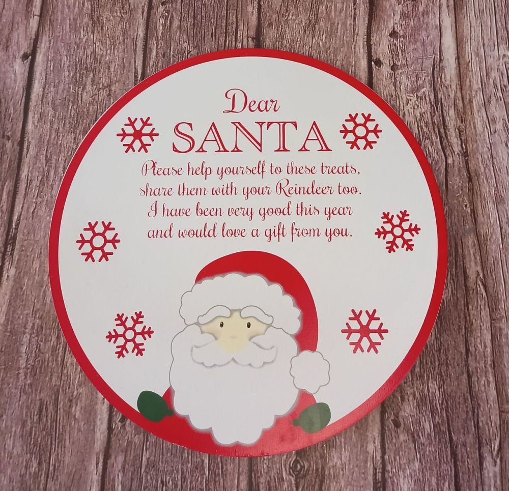 Santa Christmas Treat Plate