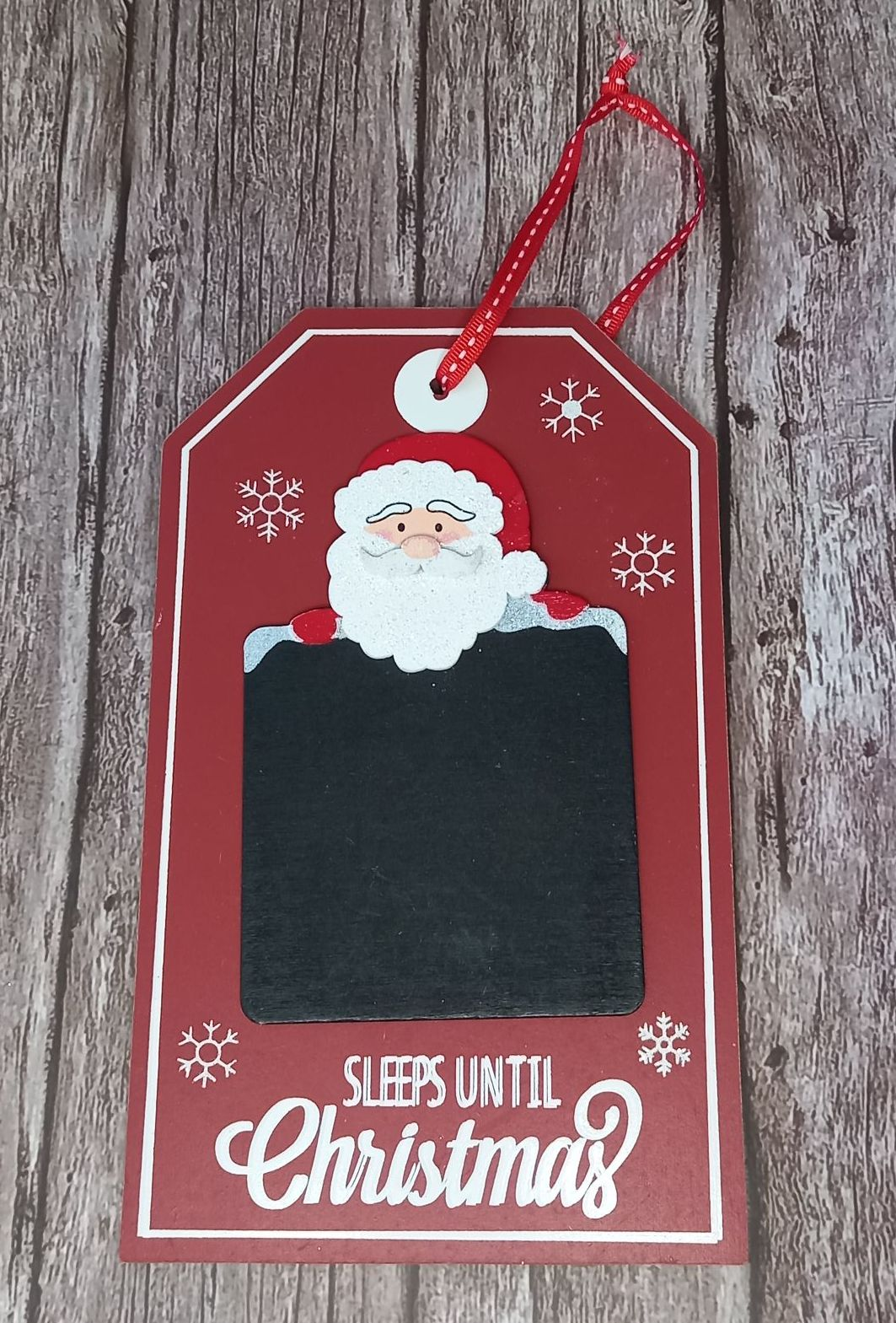 Santa Countdown Plaque
