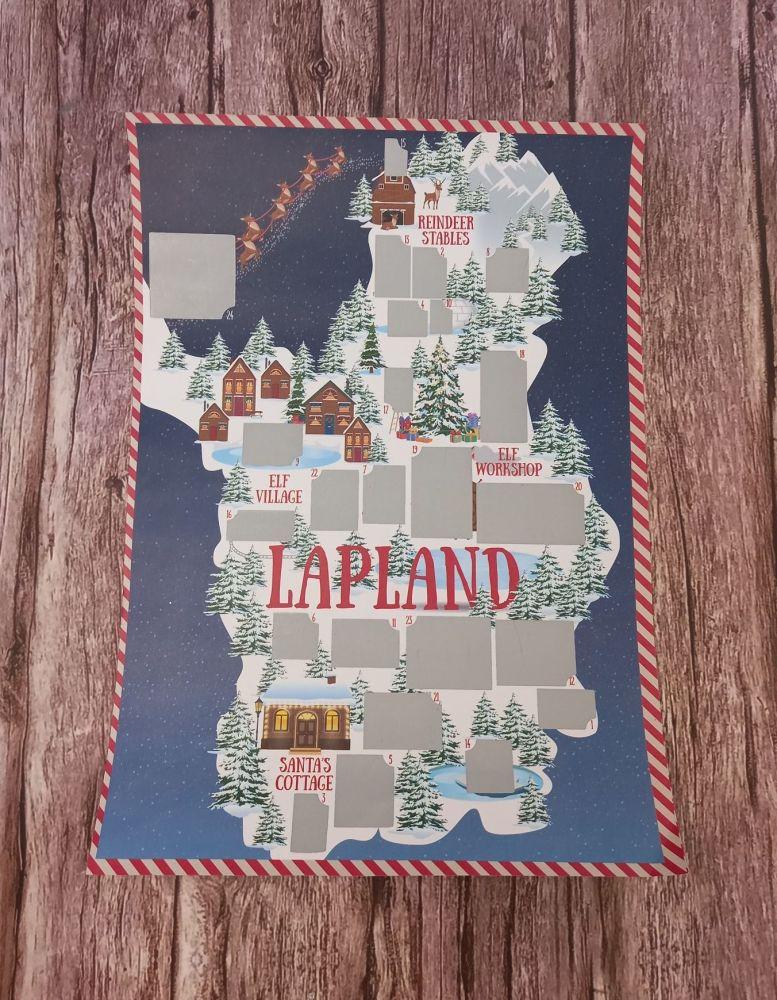 A4 Lapland Scratch Countdown