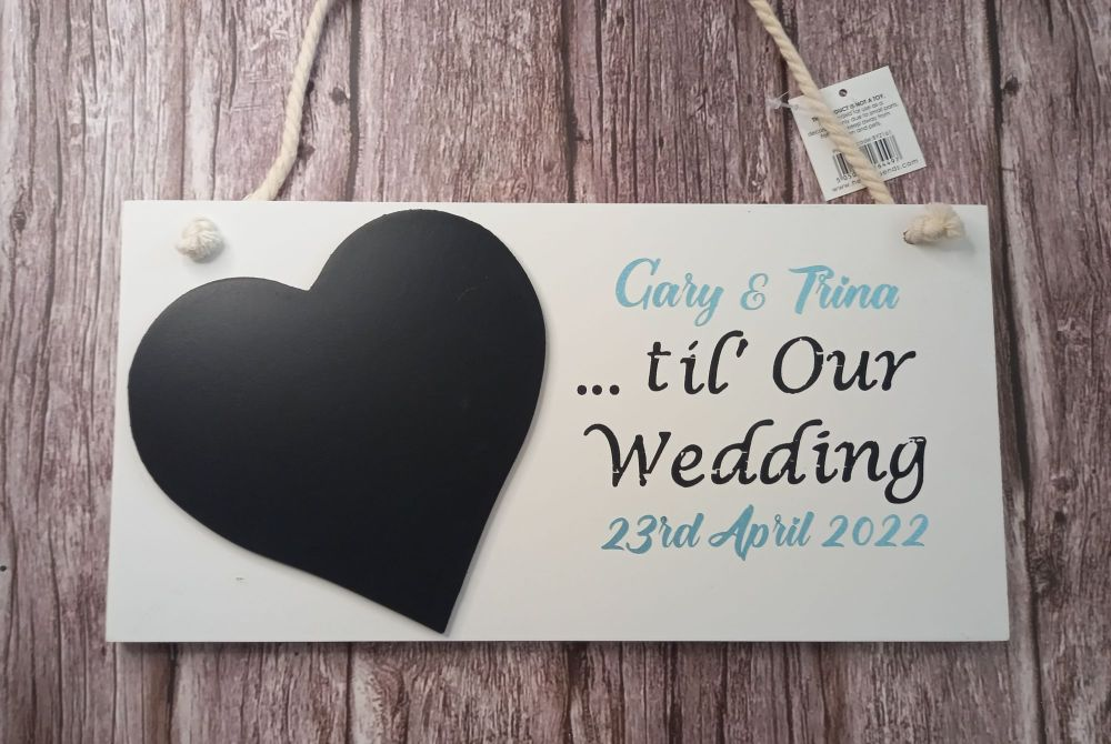 Countdown Plaque - Wedding Personalised