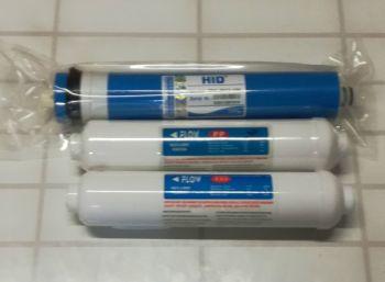 50gpd membrane, inline sediment & inline gac filter set