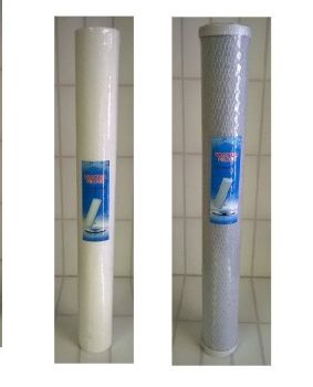 "1 x 20"" sediment & 1 x 20"" cto carbon filter set"