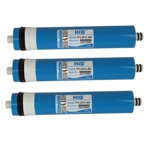 3 x 200gpd reverse osmosis membranes