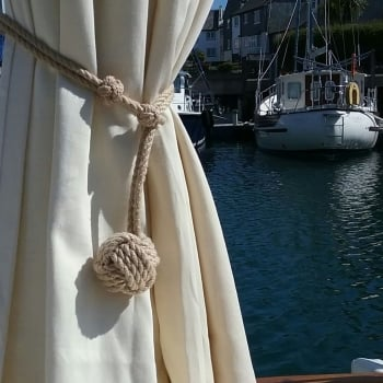 'St. Mawes' Nautical Rope Curtain Tie Back.