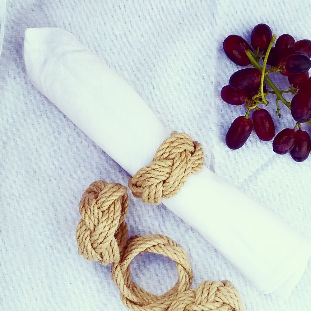 Turks Head Knot Napkin Rings