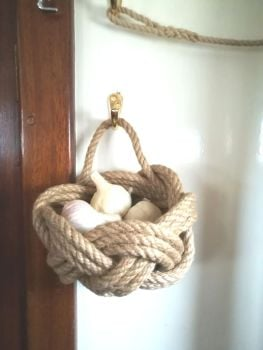 Rustic Rope Garlic Basket