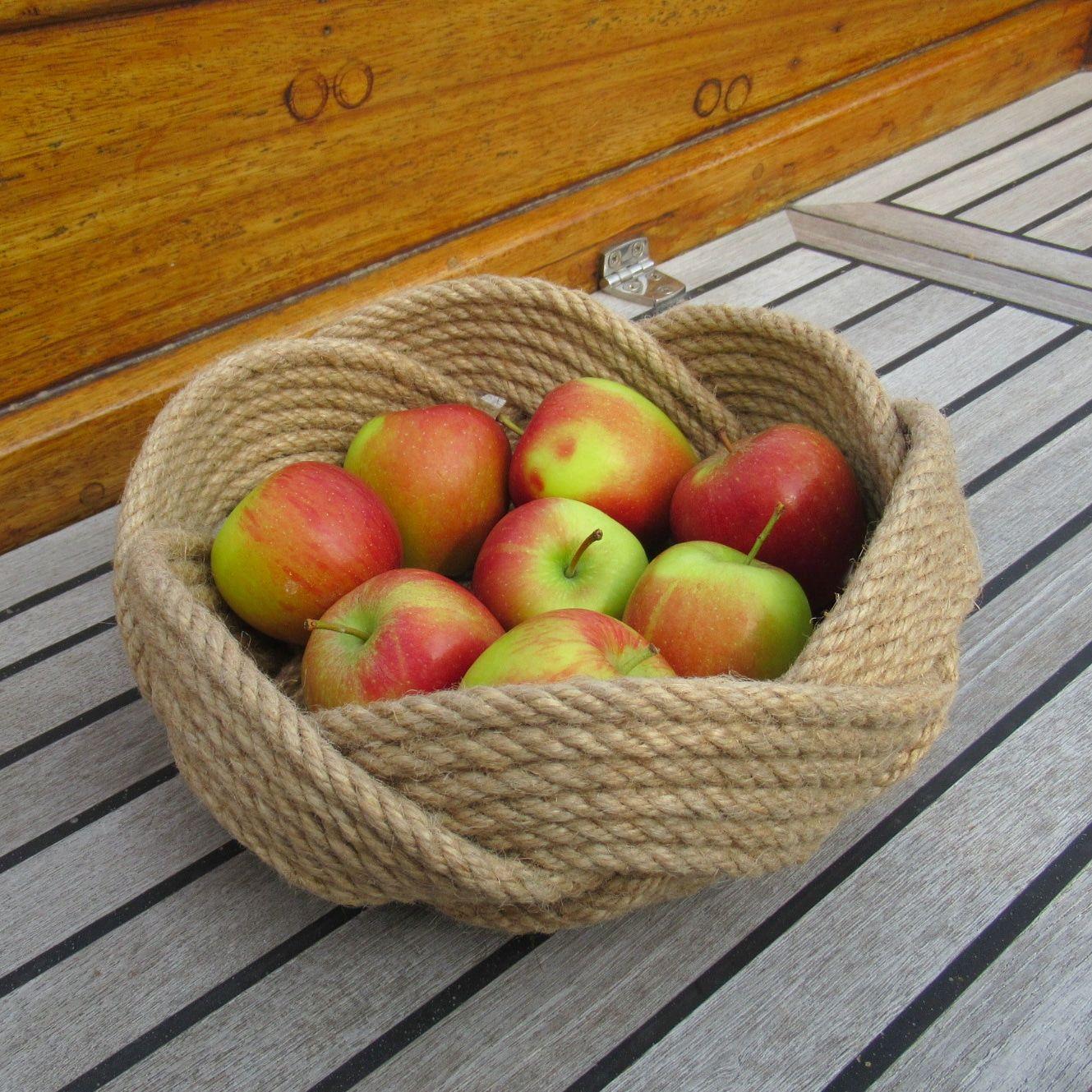 Jute Fruit Bowl Large