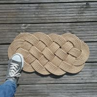 Natural Rope Knot Door Mat