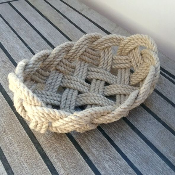Scandi Knot Basket, Small