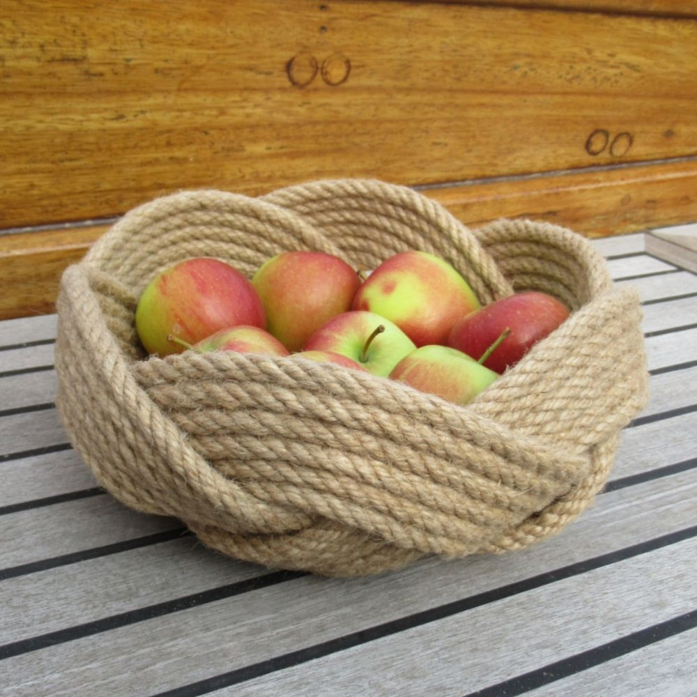 <!--002--> Rope Knot Bowls and Baskets