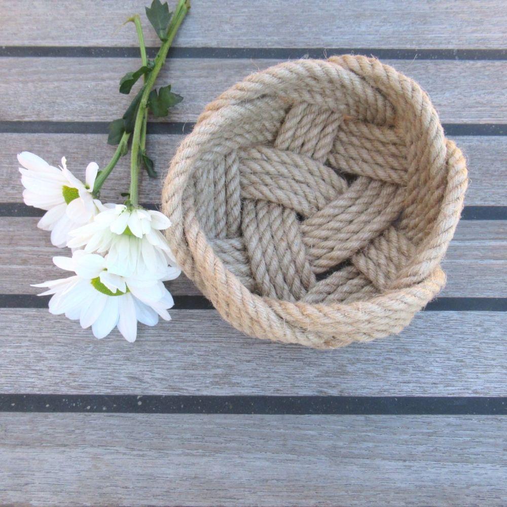 Natural Jute Rope  Ring Bowl