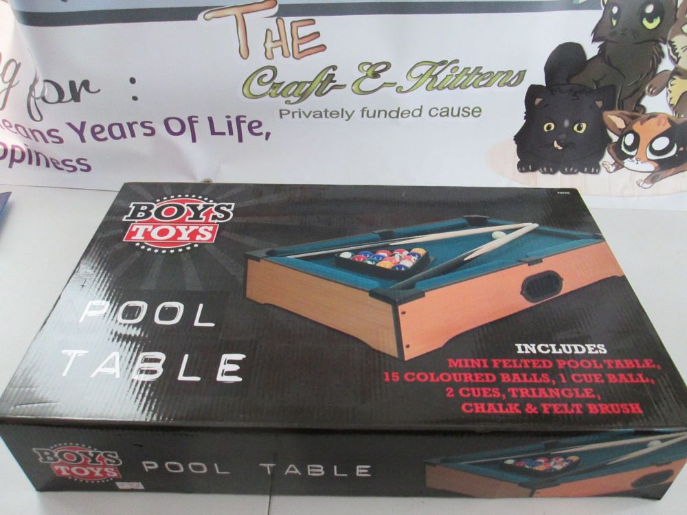Boys Toys - Table Top Mini Pool Table Game