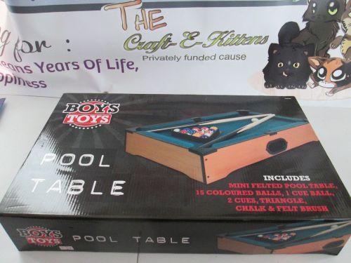 Boys Toys - Table Top Mini Pool Table Game