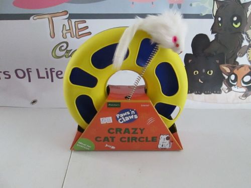 Fletchers Paws N Claws Blue Crazy Cat Circle