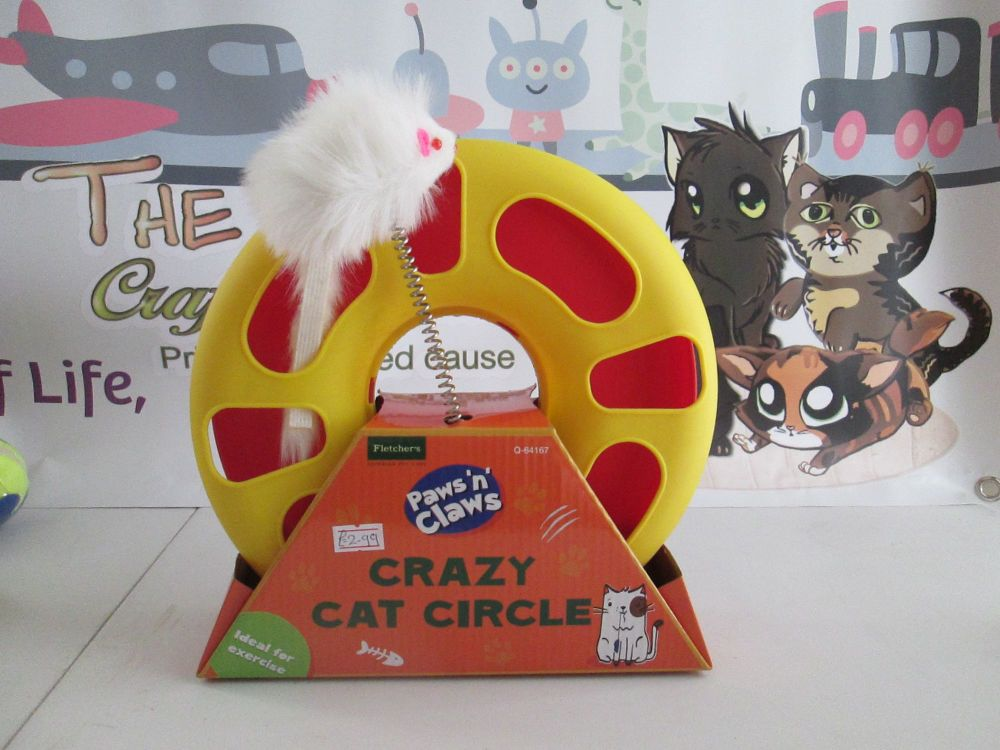 Fletchers Paws N Claws Red Crazy Cat Circle
