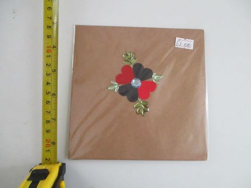 Shamrock Harlequin Poppy Design Brown Kraft Card - Kitty Cat Confetti