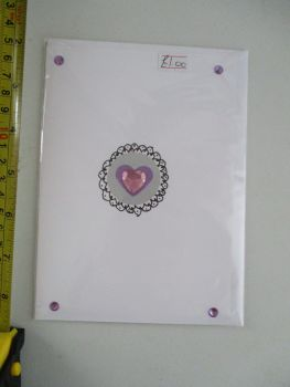 Purple & Spiral Design White Card - JGPaws