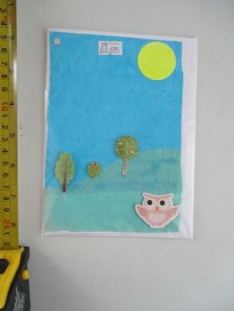 Night Owl Tree Scene Design White Card - JGPaws