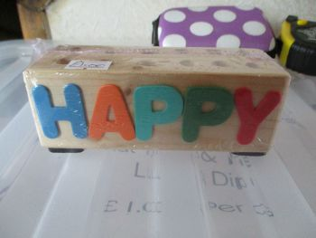 Happy B'Day - Wooden Stationery Caddy - Des In The Shed