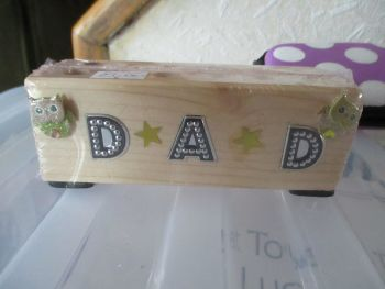 Dad - Wooden Stationery Caddy - Des In The Shed
